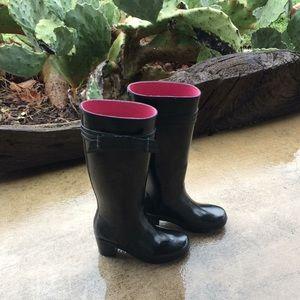 Kate Spade black rain boots ☂️🔥